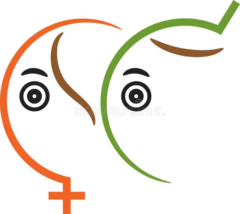 Simbolo di sesso illustrazione di stock