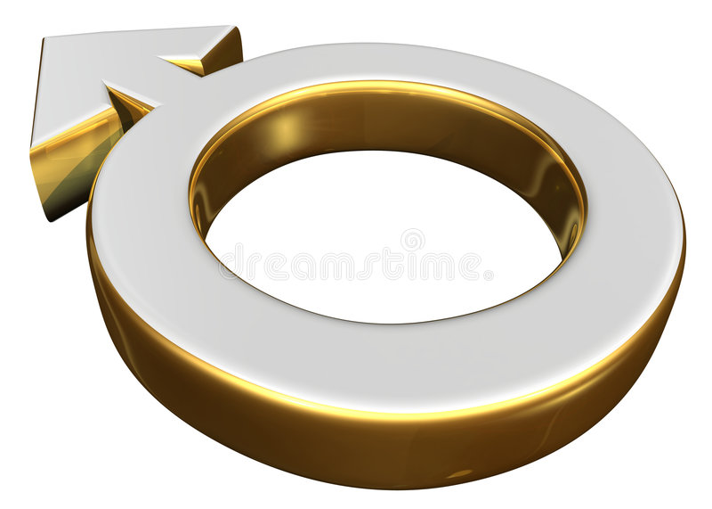 Simbolo di sesso maschio royalty illustrazione gratis