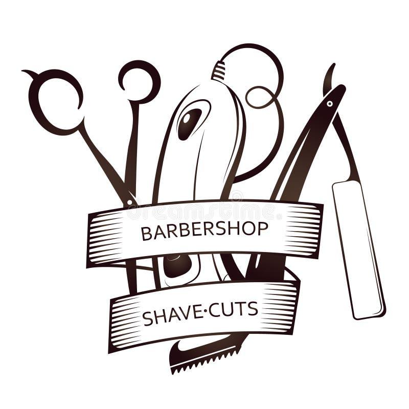 Simbolo di set di strumenti del parrucchiere illustrazione di stock