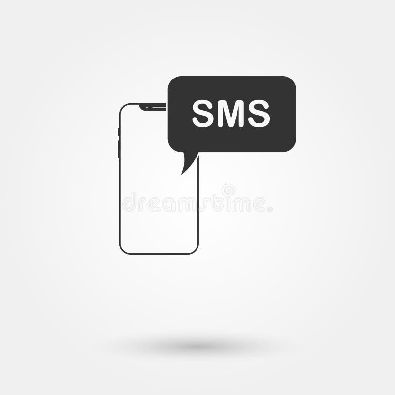 Simbolo 2 di Sms illustrazione di stock
