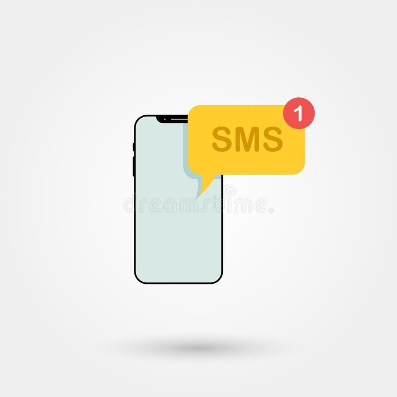 Simbolo 1 di Sms royalty illustrazione gratis