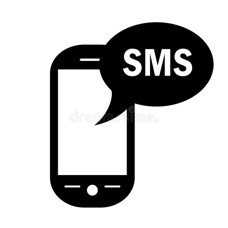 Simbolo di Sms illustrazione di stock