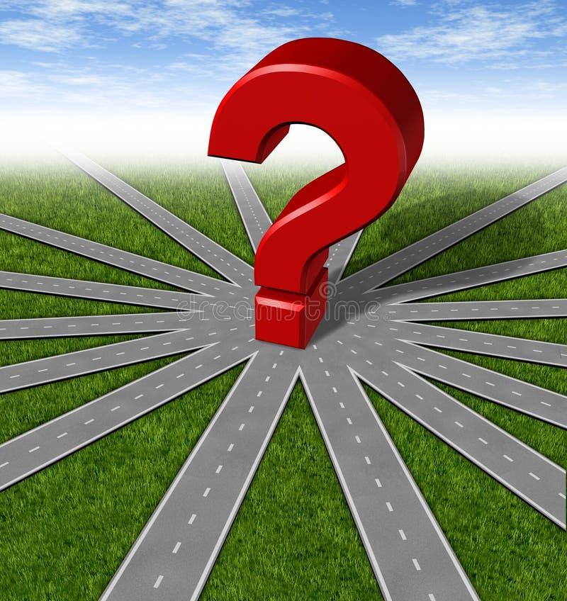 Simbolo di strategie e di domande illustrazione di stock