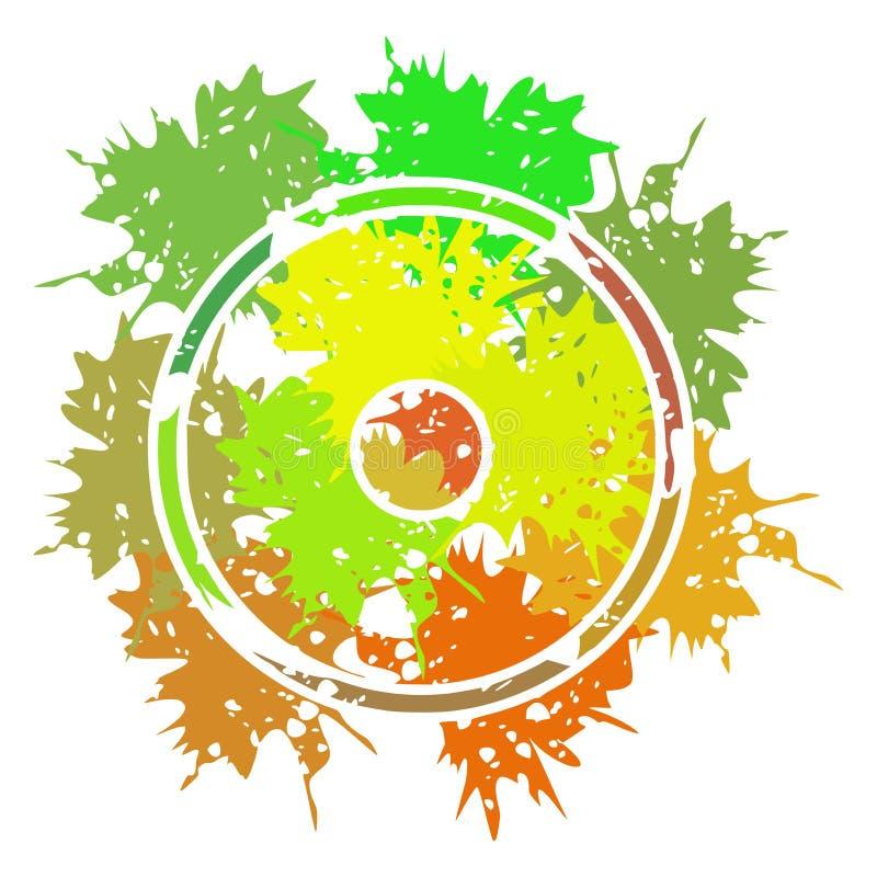 Simbolo di Sun fatto con i punti isolati royalty illustrazione gratis