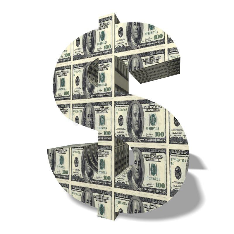 simbolo di valuta 3D illustrazione di stock