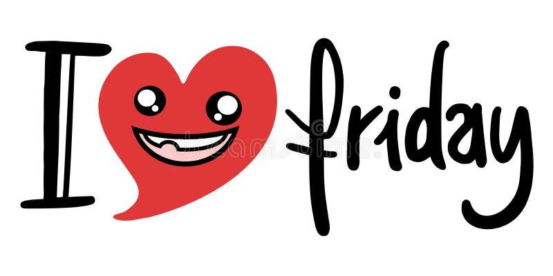Simbolo di venerdì di amore illustrazione di stock