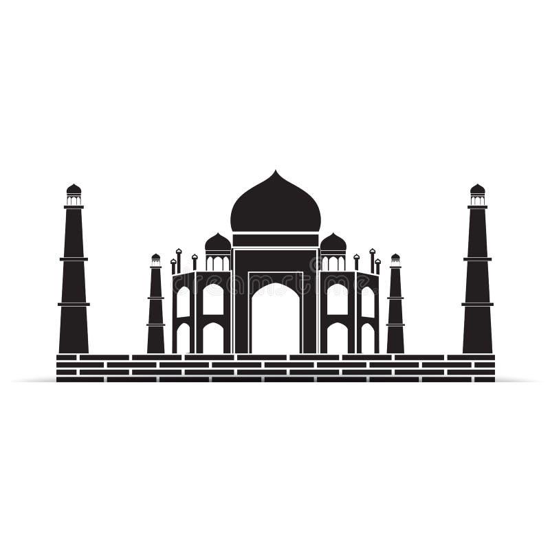 simbolo di vettore del Taj Mahal royalty illustrazione gratis