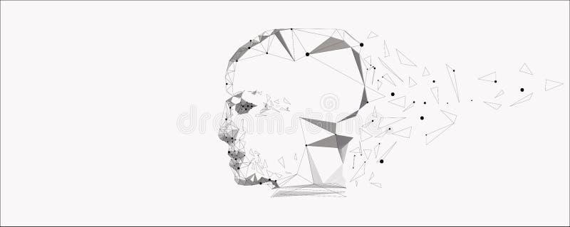 Simbolo di vettore della testa umana royalty illustrazione gratis