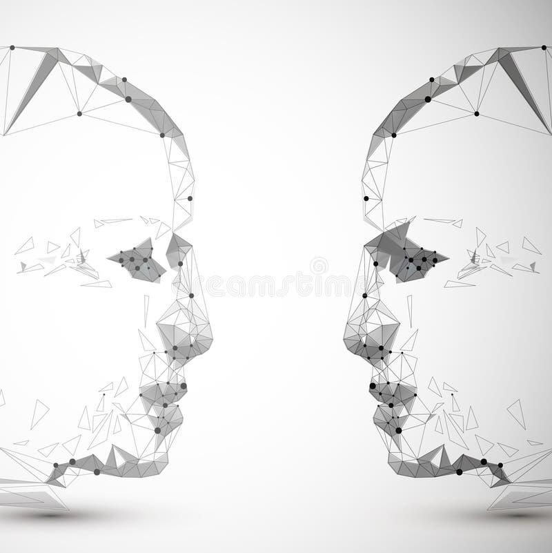 Simbolo di vettore della testa umana illustrazione vettoriale