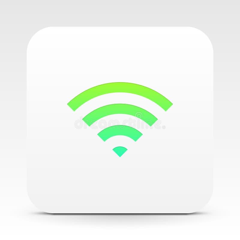 Simbolo di Wifi sulla casella di testo bianca illustrazione vettoriale