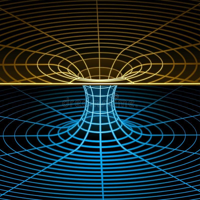 Simbolo di Wireframe (wormhole) illustrazione di stock