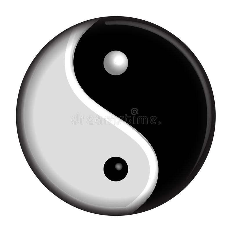 Simbolo di Yin Yang illustrazione vettoriale