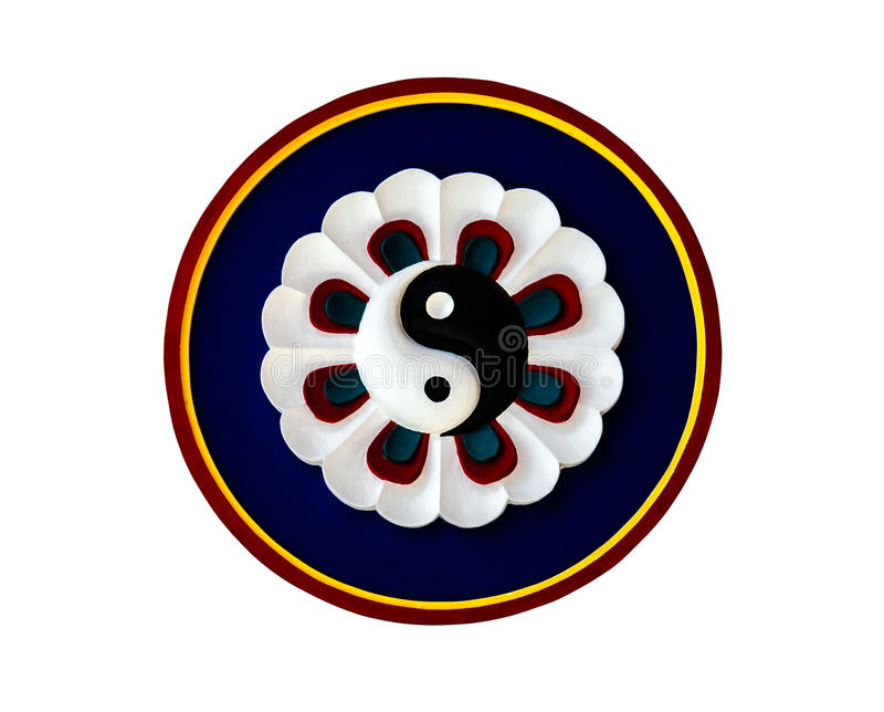 Simbolo di Yin Yang di taoismo fotografie stock libere da diritti