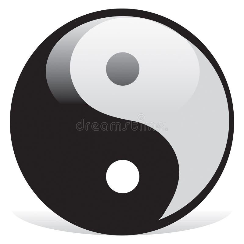 Simbolo di Ying yang di armonia royalty illustrazione gratis