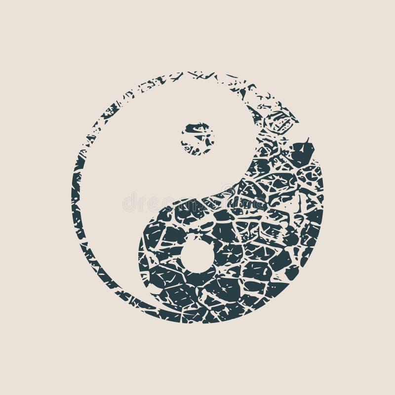 Simbolo di Ying yang di armonia e di equilibrio illustrazione di stock