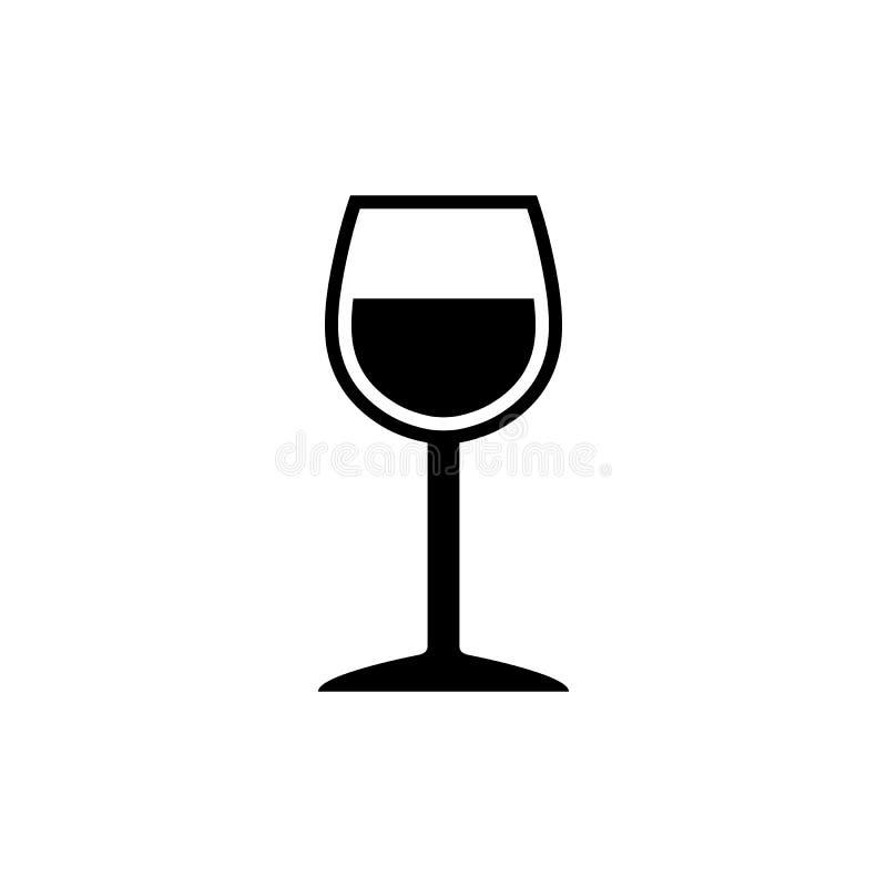 Simbolo elegante del bicchiere di vino illustrazione di stock