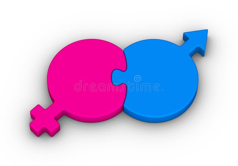 Simbolo eterosessuale delle coppie royalty illustrazione gratis