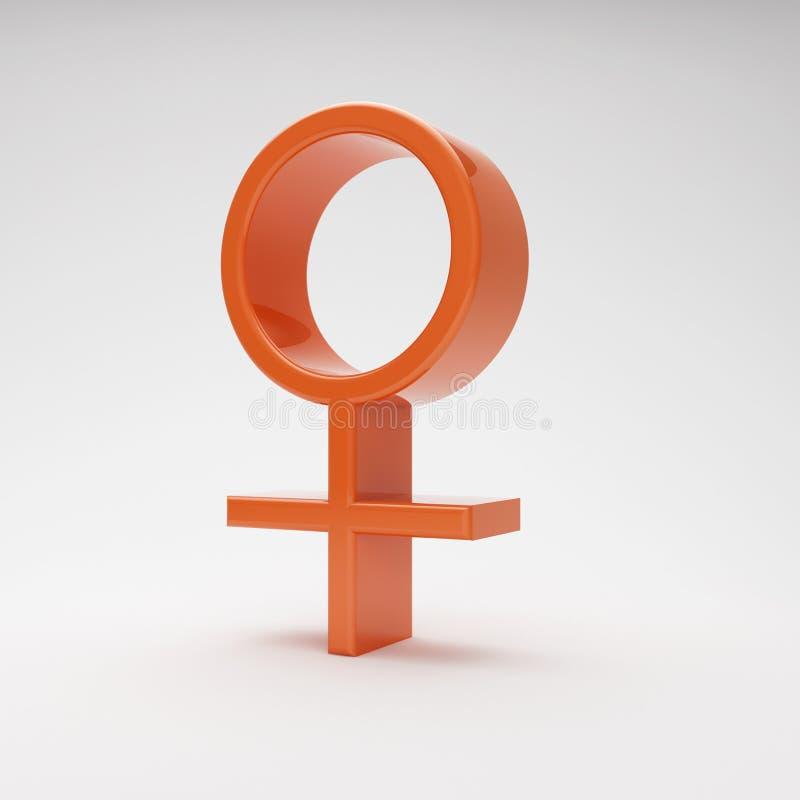Simbolo femminile illustrazione vettoriale