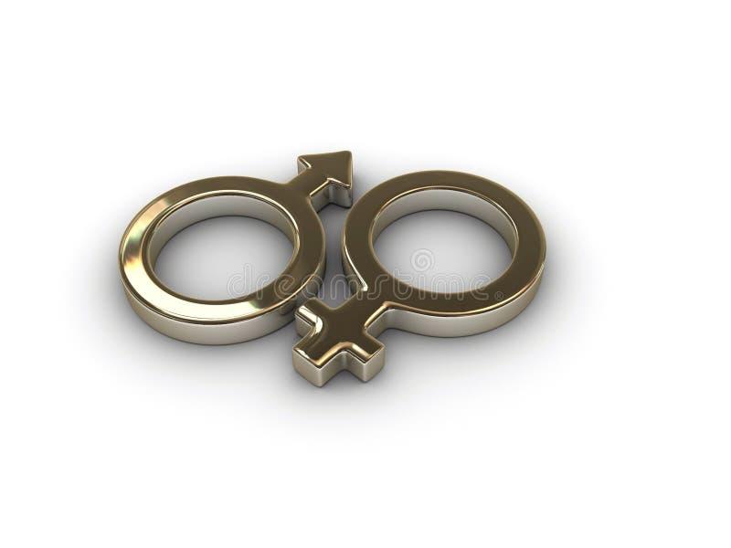 Simbolo femminile maschio 1 royalty illustrazione gratis