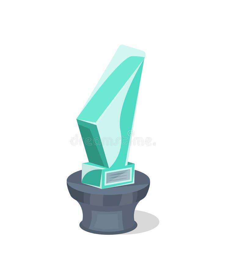 Simbolo isolato trofeo vetroso del premio royalty illustrazione gratis