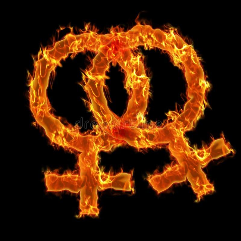Simbolo lesbico Burning royalty illustrazione gratis