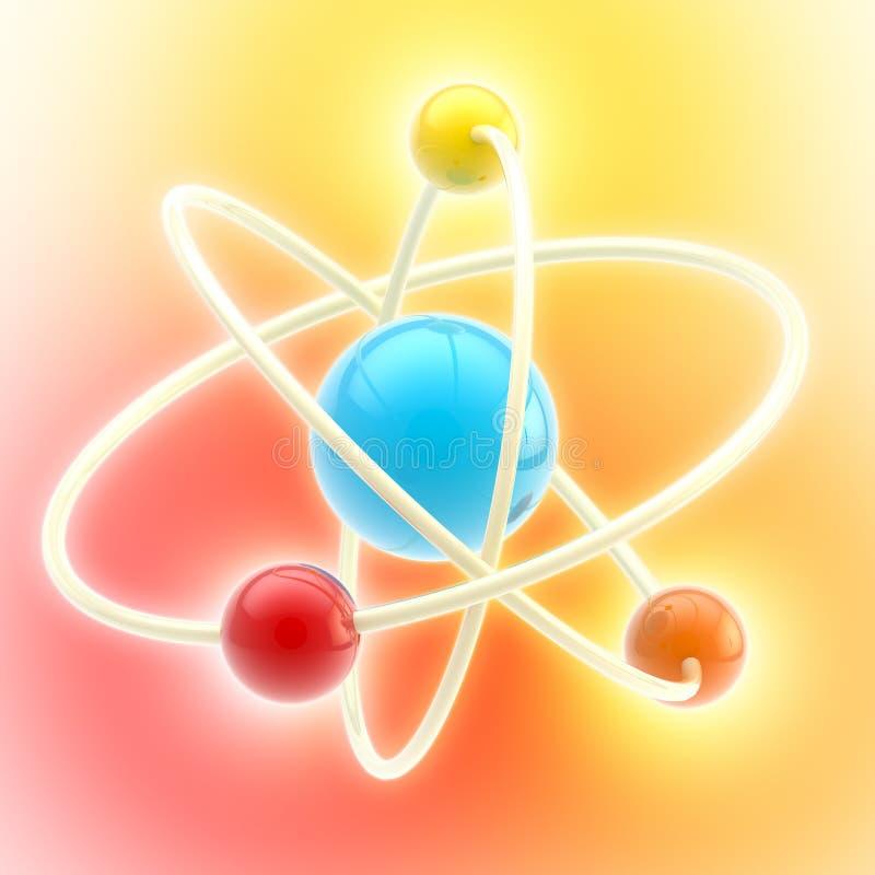 Simbolo lucido e variopinto dell'atomo royalty illustrazione gratis