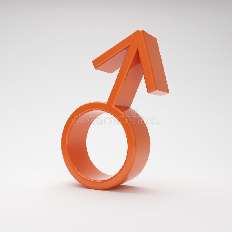 Simbolo maschio illustrazione vettoriale