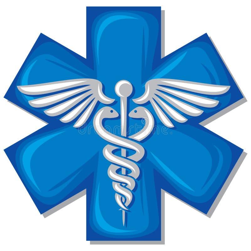 Simbolo medico del Caduceus illustrazione vettoriale