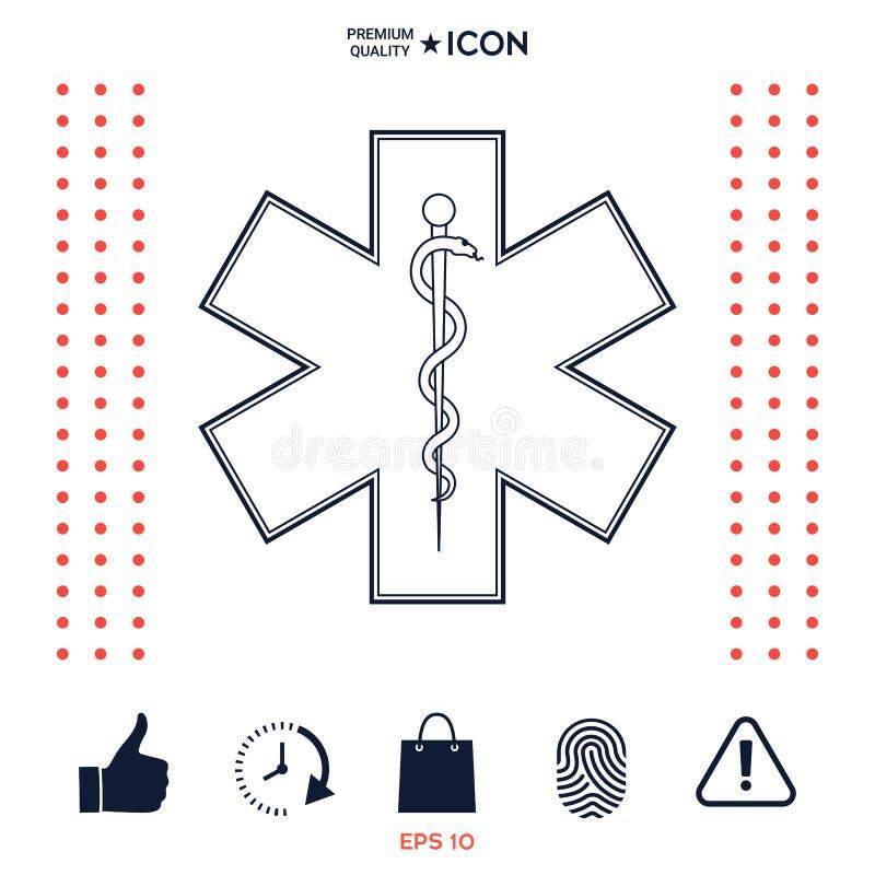 Download Simbolo Medico Dell'emergenza - Stella Di Vita Illustrazione Vettoriale - Illustrazione di salute, ambulanza: 117975940