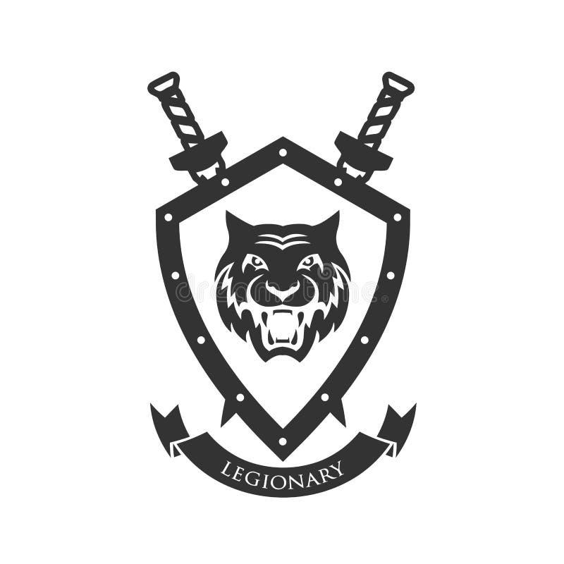 Simbolo militare, distintivo del ` s del legionario illustrazione vettoriale