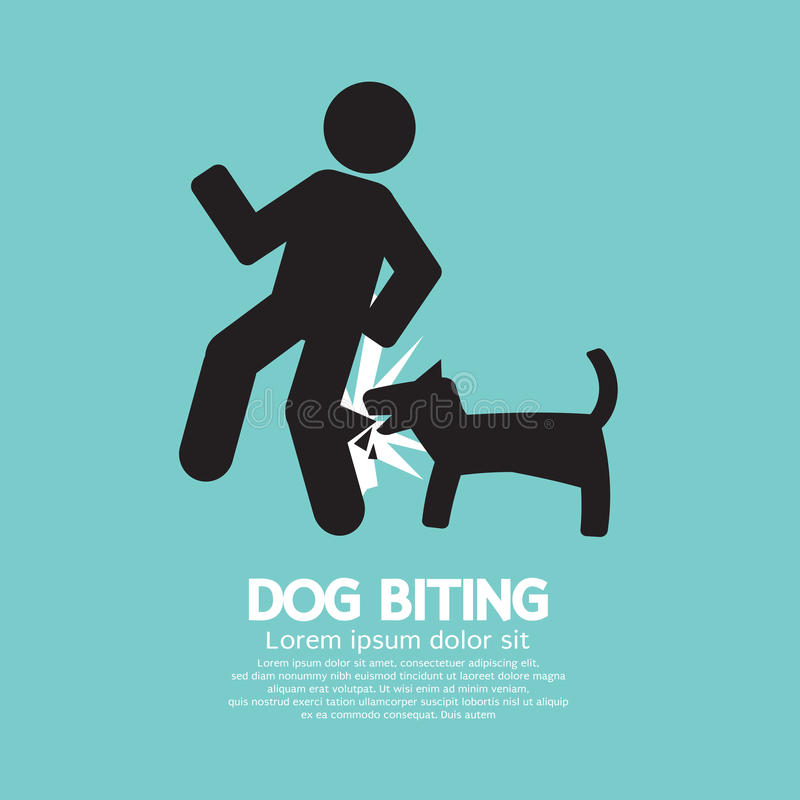 Simbolo mordace del cane illustrazione vettoriale