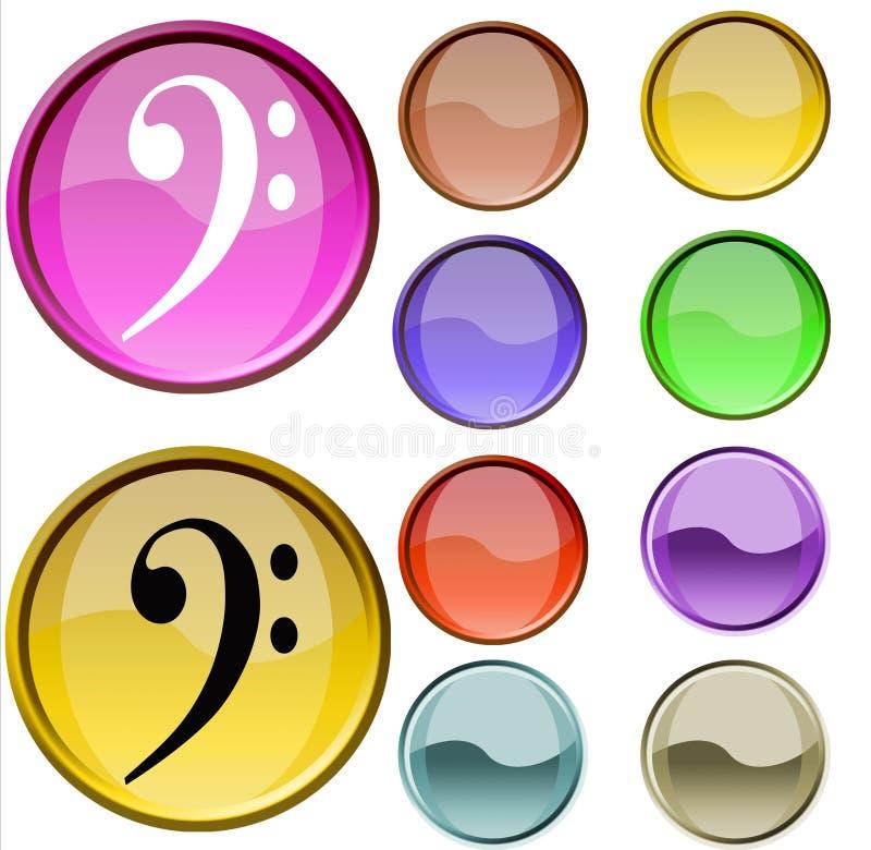Download Simbolo musicale illustrazione di stock. Illustrazione di simboli - 7322904
