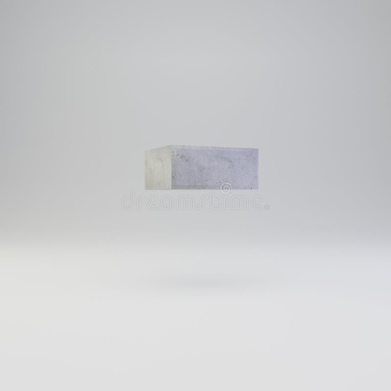 Simbolo negativo concreto con struttura del gesso isolata su fondo bianco royalty illustrazione gratis