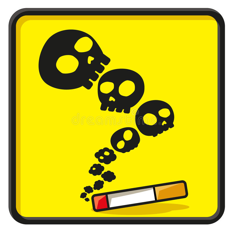 Simbolo non fumatori di divertimento illustrazione di stock