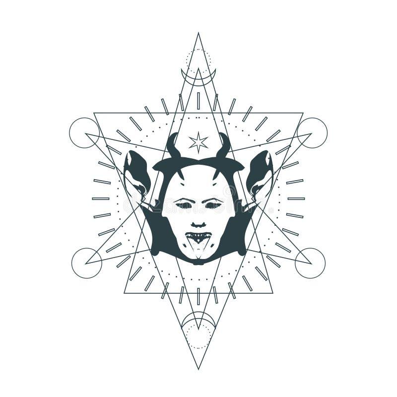 Simbolo occulto mistico royalty illustrazione gratis