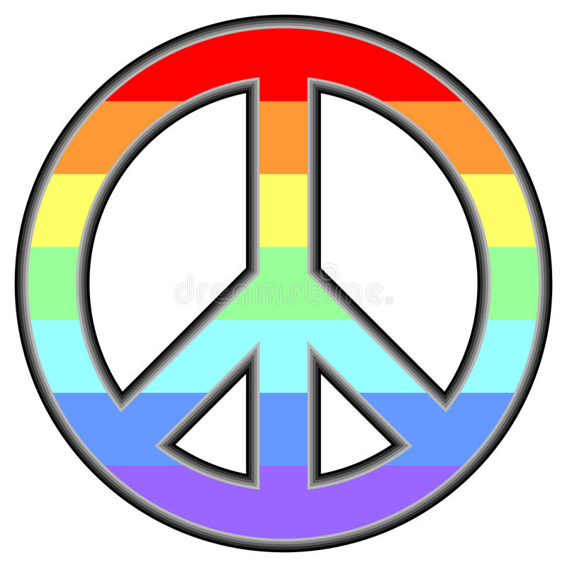 Simbolo pacifico illustrazione di stock