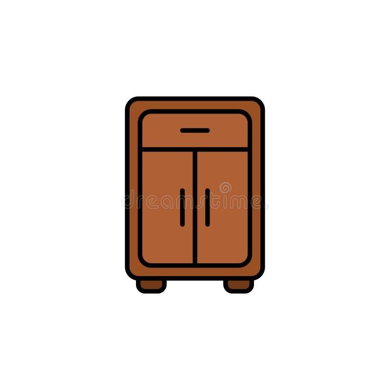 Simbolo piano del segno dell'icona di vettore del guardaroba illustrazione vettoriale