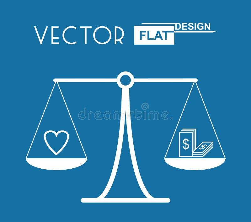 Simbolo piano dell'equilibrio royalty illustrazione gratis