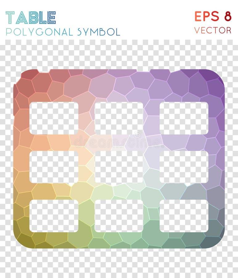 Simbolo poligonale della Tabella illustrazione vettoriale