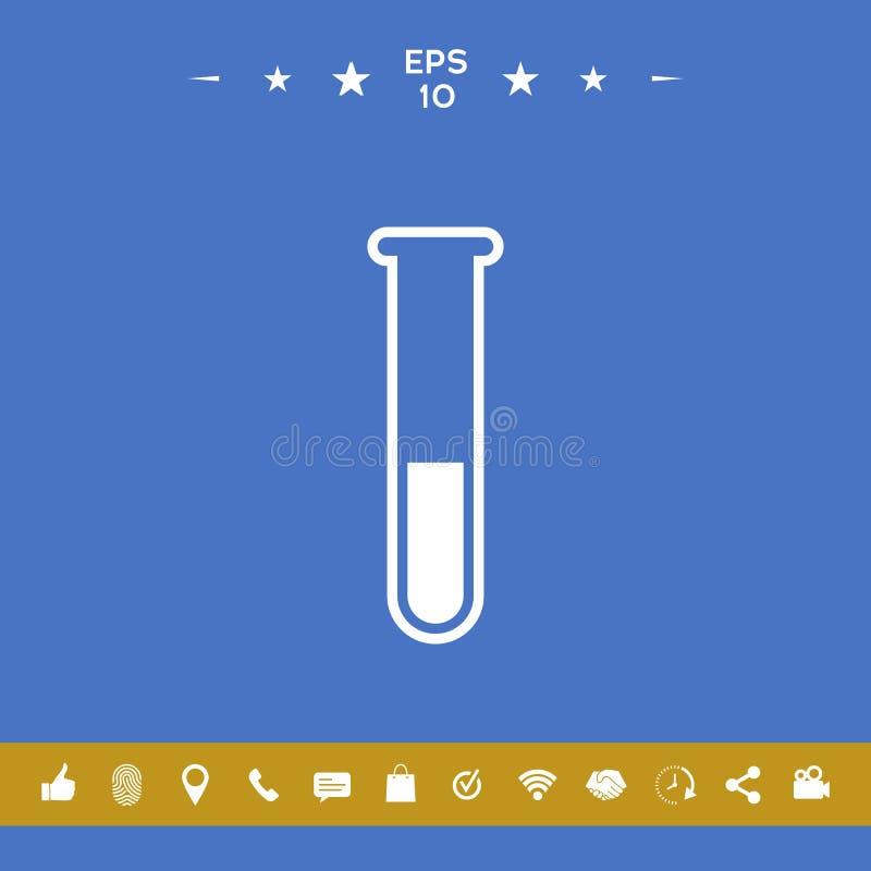 Simbolo in provetta dell'icona illustrazione di stock