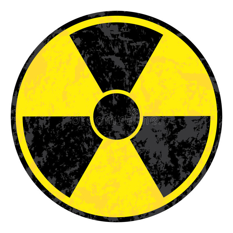 Simbolo radioattivo illustrazione di stock