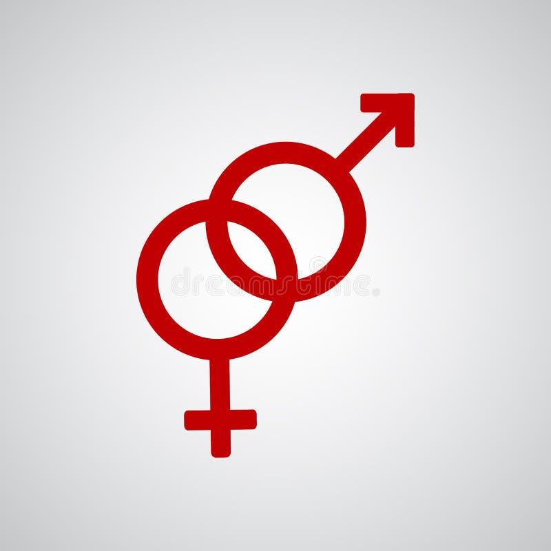 Simbolo rosso eterosessuale royalty illustrazione gratis