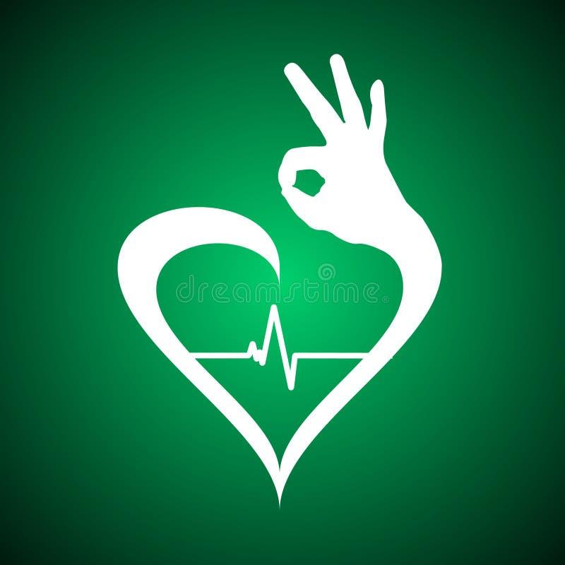 Simbolo sano del cuore royalty illustrazione gratis
