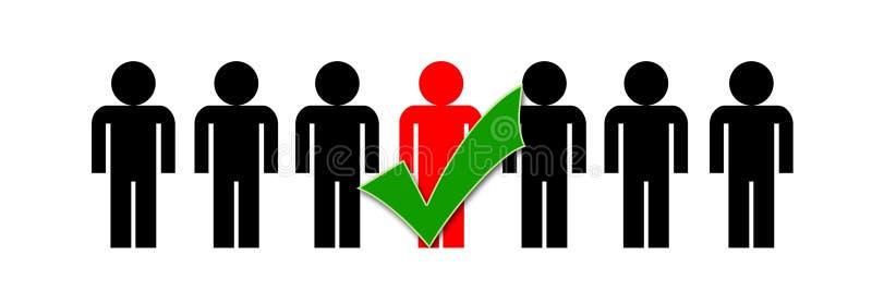 Simbolo scelto commercio della gente illustrazione di stock