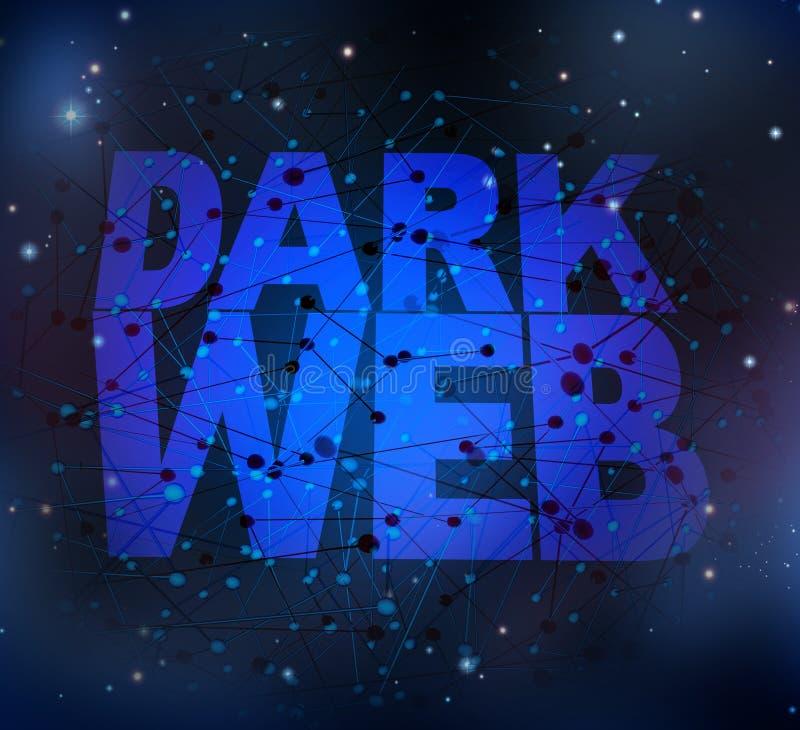 Simbolo scuro di web illustrazione di stock