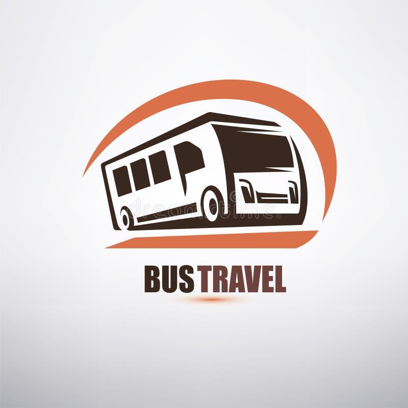 Simbolo stilizzato del bus del fumetto con il fronte felice royalty illustrazione gratis