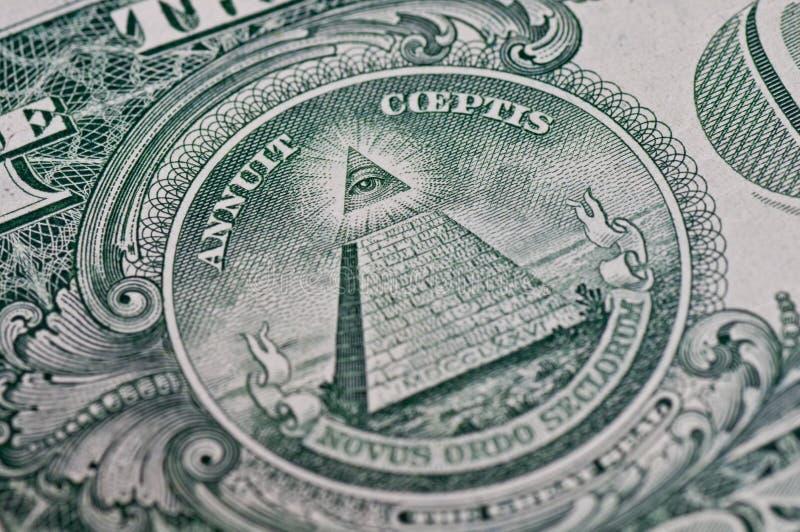 Simbolo su un dollaro fotografie stock libere da diritti