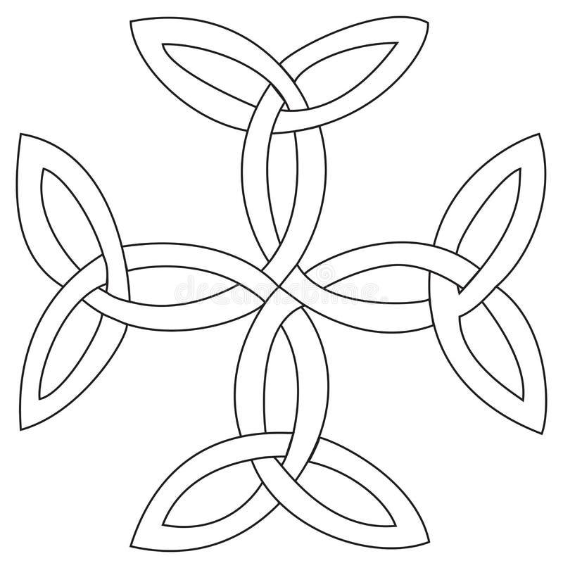 Simbolo trasversale di Triquetras illustrazione di stock