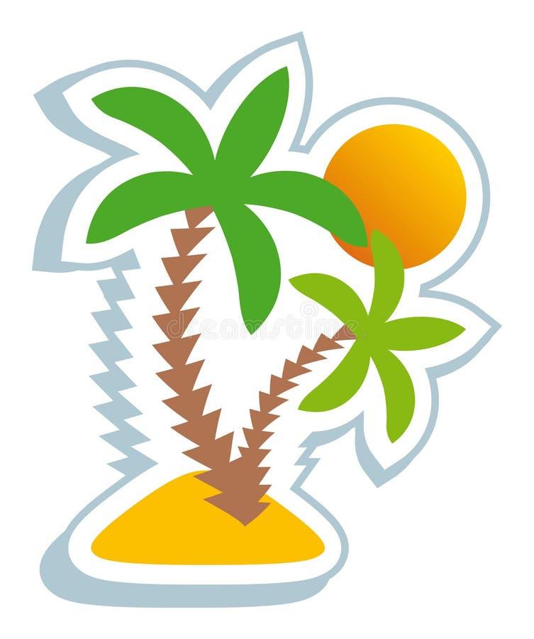 Simbolo tropicale royalty illustrazione gratis