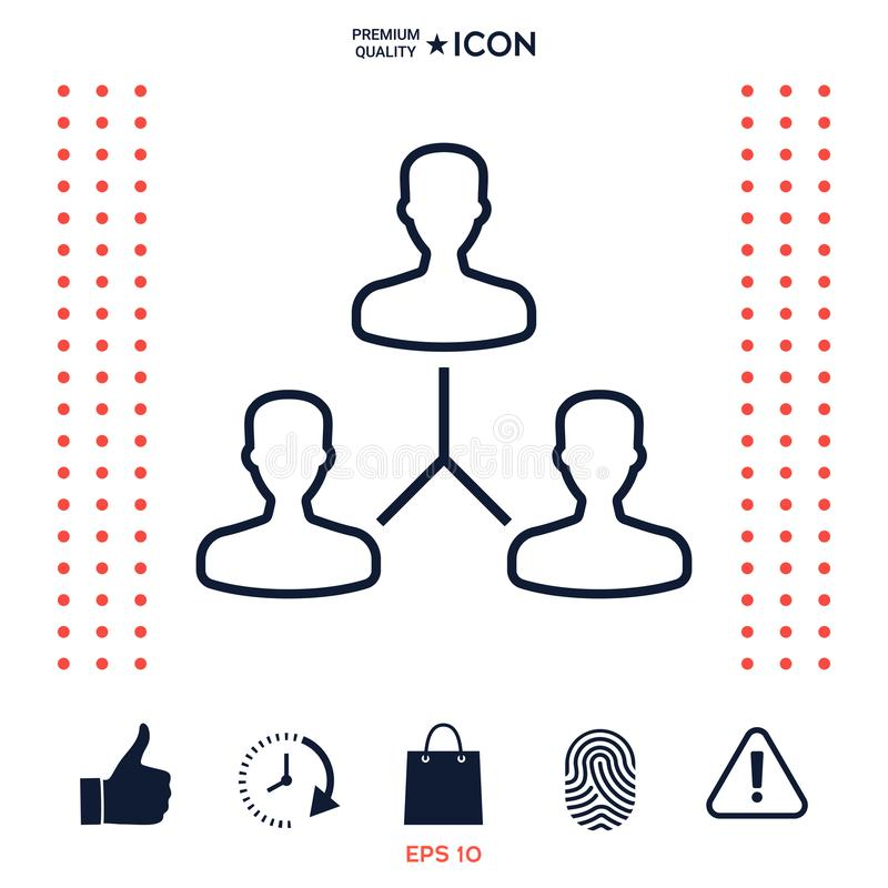 Download Simbolo Umano Del Collegamento Linea Icona Illustrazione Vettoriale - Illustrazione di tasto, congresso: 117975609